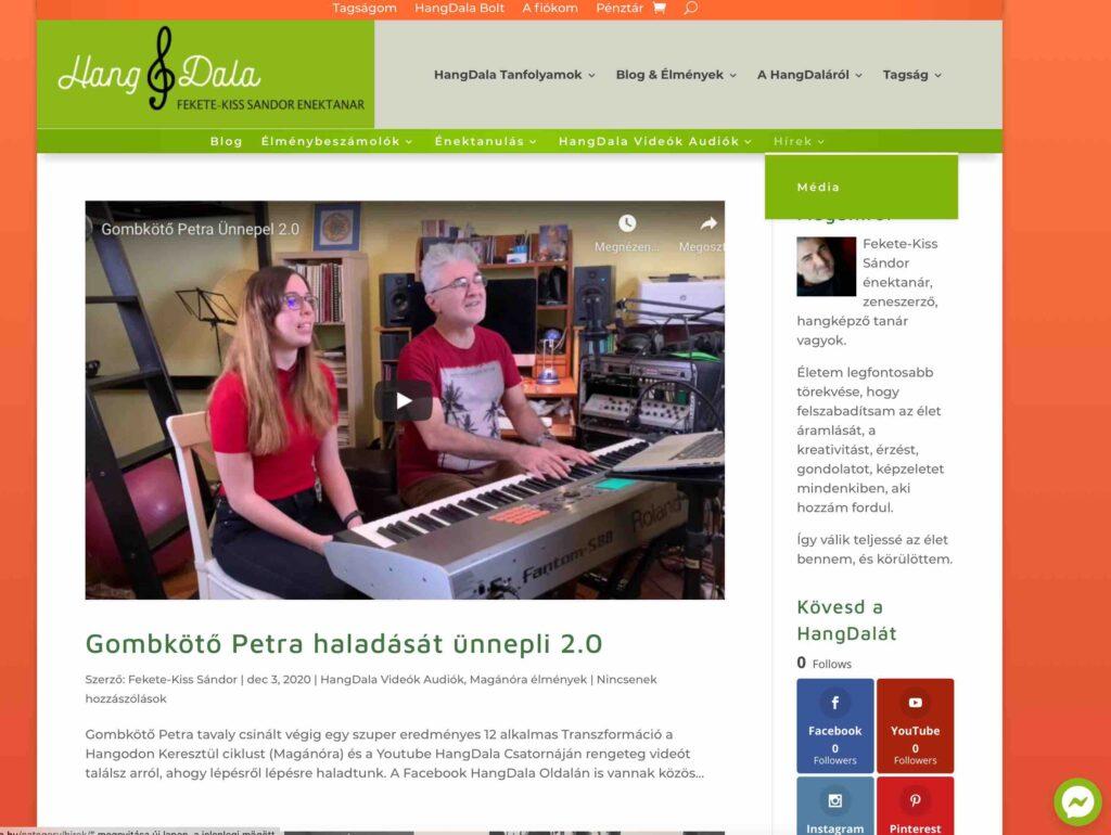 HangDala Blog nézet